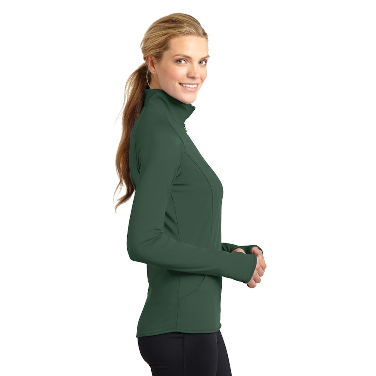 Sport-Tek® Ladies' Sport-Wick® Stretch 1/2-Zip Pullover