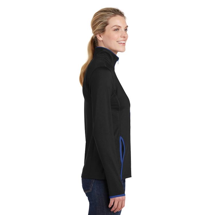 Sport-Tek® Ladies' Sport-Wick® Stretch Contrast Full-Zip Jacket