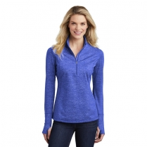 Sport-Tek® Ladies' Sport-Wick ® Stretch Reflective Heather 1/2-Zip Pullover