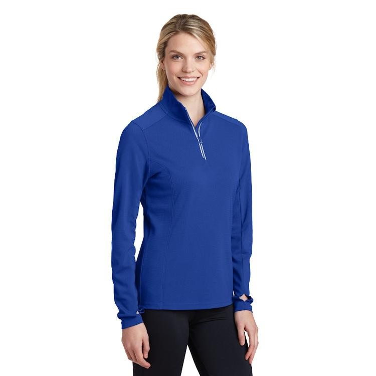 Sport-Tek® Ladies' Sport-Wick® Textured 1/4-Zip Pullover