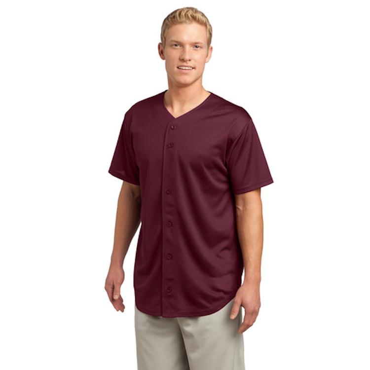 Sport-Tek® PosiCharge® Tough Mesh Full-Button Jersey