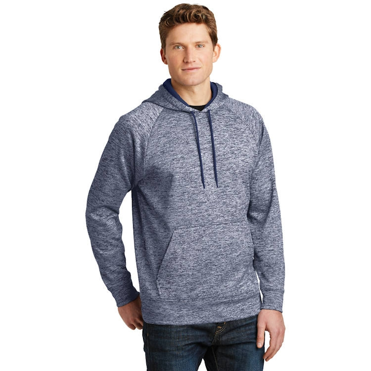 Sport-Tek® PosiCharge ® Electric Heather Fleece Hooded Pullover