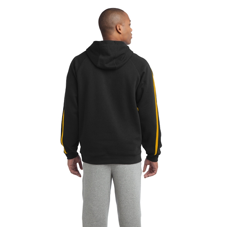 Sport-Tek® Sleeve Stripe Pullover Hooded Sweatshirt