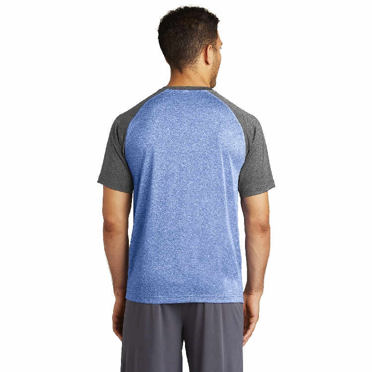 Sport-Tek® Heather-On-Heather Contender™ Scoop Neck Tee