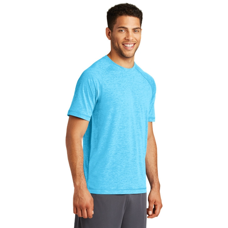 Sport-Tek® PosiCharge® Tri-Blend Wicking Scoop Neck Raglan Tee