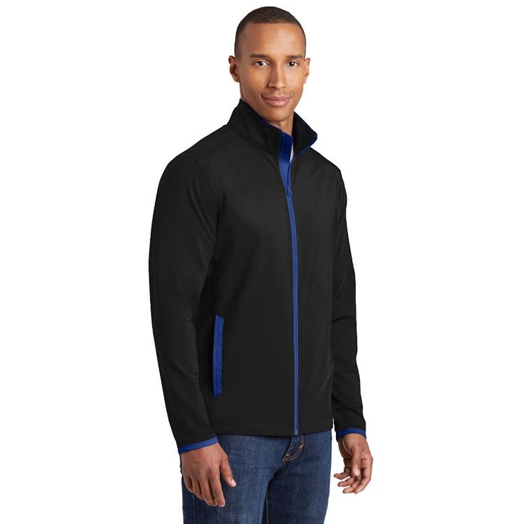Sport-Tek® Sport-Wick® Stretch Contrast Full-Zip Jacket