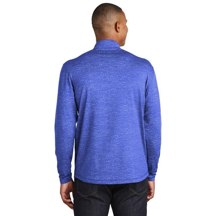 Sport-Tek® Sport-Wick ® Stretch Reflective Heather 1/2-Zip Pullover