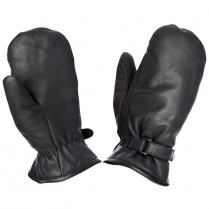 Tough Duck Leather Adjustable Pile Lined Mitt