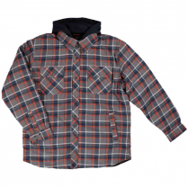 Tough Duck Fooler Front Quilt Lined Flannel Hooded Shirt