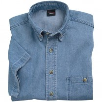 Union Line Men's Short Sleeve Denim Shirt