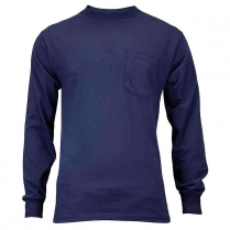 Union Line 5.4 oz. Long Sleeve Tee Shirt with Pocket