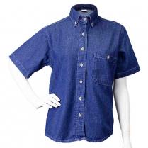 Union Line Women's Short Sleeve Denim Shirt