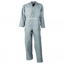 Universal Overall 100% Cotton Fisher Stripe Zipper Front Coverall