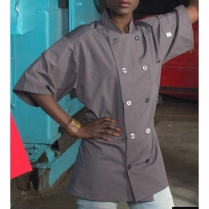 Uncommon Threads Specialist with Mesh Short Sleeve 10 Matching Button Chef Coat