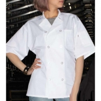 Uncommon Threads Endura Short Sleeve with Mesh Back 10 Button Chef Coat