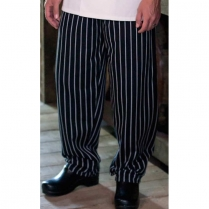 Uncommon Threads Cotton Baggy Chef Pant with 2-inch Elastic Waist