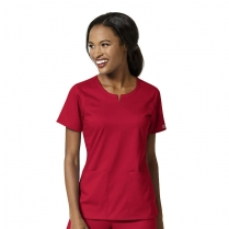 WonderWink PRO Women's 4 Pocket Notch Neck Top