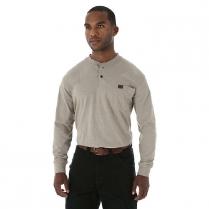 Wrangler Riggs Workwear Rugged Wear Long Sleeve Henley
