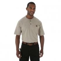 Wrangler Riggs Workwear Rugged Wear Short Sleeve Henley