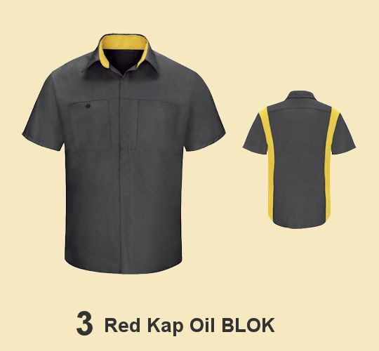 RED KAP OIL BLOK SHIRTS