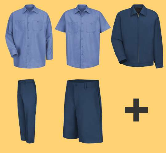65% Polyester / 35% Cotton Industrial Workwear