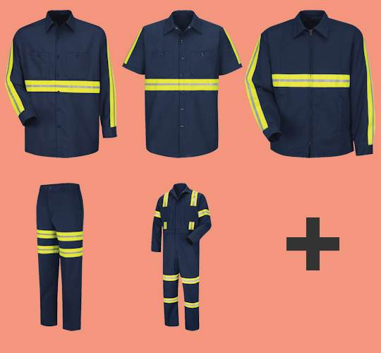 65% Polyester / 35% Cotton High Visibility Industrial Workwear