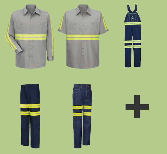 100% Cotton High Visibility Industrial Workwear