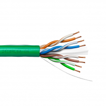 Provo UTP Cable 23-4pr SBC UNSH CAT6A 500MHz CMR CSA FT4 UL RoHS – Green JKT