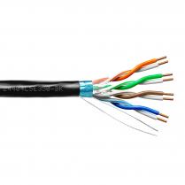 Provo STP Cable 24-4pr SBC FL SH CAT5E 350MHz CSA FT4 UL RoHS – Black JKT