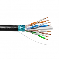 Provo STP Cable 23-4pr SBC FL SH CAT6 550MHz CSA FT4 UL RoHS – Black JKT