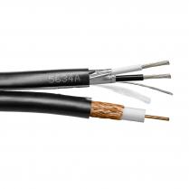 Provo Siamese RG6U CCTV 18 AWG SBC 95% BRD SH + 18-2c FL SH Stranded Control Cable CSA FT4 UL RoHS – Black JKT