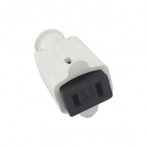 Provo Connector Flat Rubber 2 Wire Female - WH
