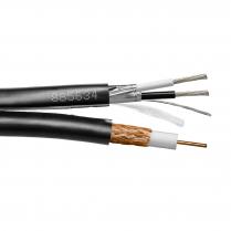 Provo RoHS Siamese RG6U CCTV Outdoor Direct Burial 18 AWG SBC 95% BRD SH + 18-2c FL SH Control Cable – Black