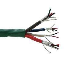 Provo Door Access Control Cable STR BC 18-4c FL SH + 22-3pr STR BC FL SH + 22-1pr STR BC FL SH + 22-4c STR BC FL SH CSA FT4 UL RoHS – Light Green JKT