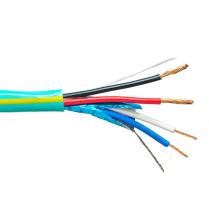 Provo Home Control 22-2c Low Cap STR BC FL SH + 18-2c STR BC UNSH CSA CMP FT6 UL RoHS- Green w/Yellow Stripe