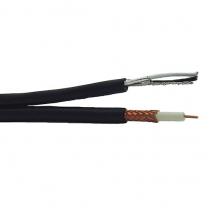 Provo Plenum Siamese RG6U 18 AWG SBC 95% BRD SH + 18-2c FL SH Control Cable CSA FT6 UL RoHS – Black JKT