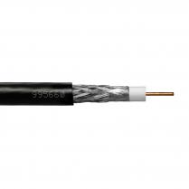Provo Plenum CATV RG6U 18 AWG SBC 100% FL SH 75 ohms + 60% AL BRD SH CSA FT6 UL RoHS – Black JKT