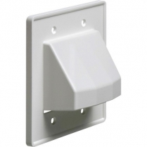 Arlington Low Voltage Entrance Exit Two Gang Style Hood - WH