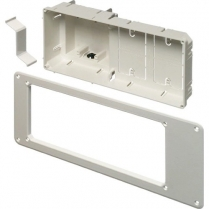 """Arlington 13"""" Wide Recessed 2Gang Device Box w/Two Built-In Mounts"""