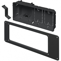 """Arlington 13"""" Wide Recessed 2Gang Device Box w/Two Built-In Mounts BK"""