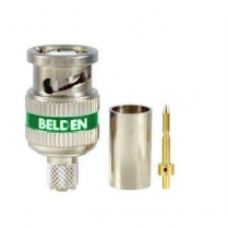 Belden 3pc RG6 BNC HD Connector – 50 pcs