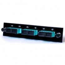 Century Fiber Optics Loaded 3 Pos SC Duplex Adapter Panel - Aqua