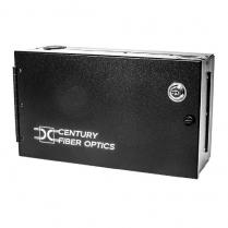 Century Fiber Optics 12F Wall Mount Takes 2 6-Packs & 2 Splice Tray - Black