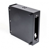 Century Fiber Optics 12F Wall Mount Takes 1 6-Pack & 1 Splice Chip - Black