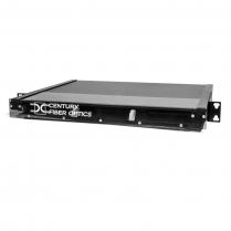 Century Fiber Optics 1U Rack Mount Fiber Enclosure - BK