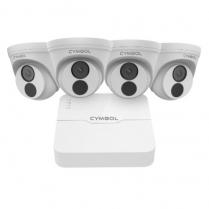 Cymbol 4CH IP POE Kit w/NVR + 2MP Turret Cameras 30m IR