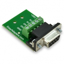 Easy Adapters Female DB9 to 5pos. Terminal Block adapter use for RS232