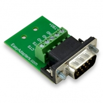 Easy Adapters Male DB9 to 5pos. Terminal Block adapter use for RS232