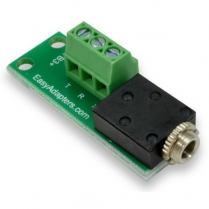Easy Adapters 3.5mm stereo jack to 3pos. terminal block adapter
