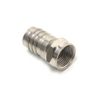 Provo F-Type RG6 PLENUM Connector w/Attached Crimp Ring